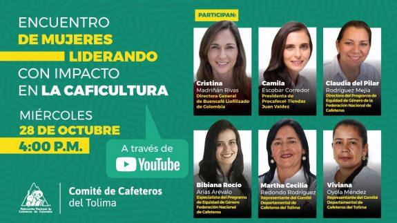 Mujeres cafeteras del Tolima se reúnen para hablar de liderazgo y edificar la caficultura del mañana
